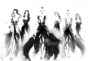 黒いドレス