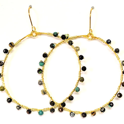 copy of Turquoise Hoops