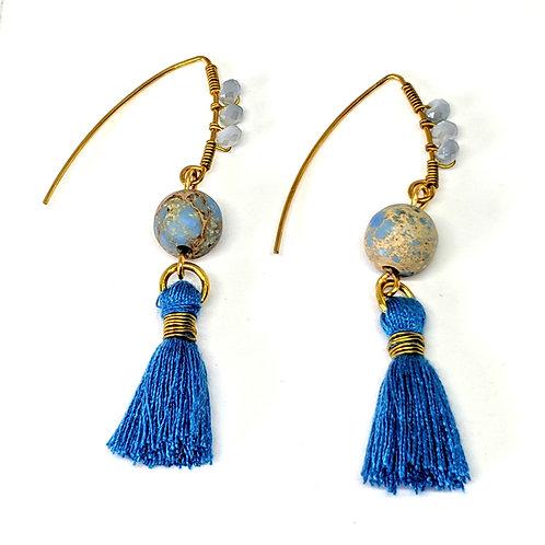 copy of Tassel Blue Jasper Earring