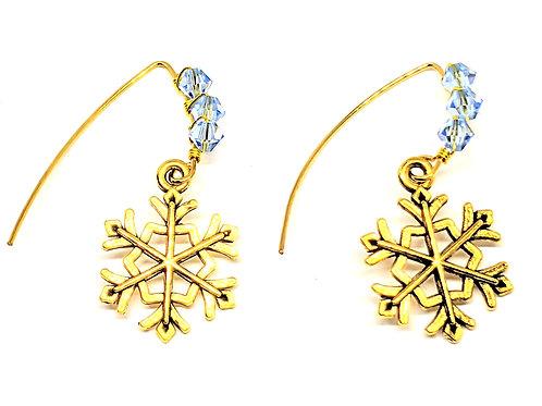 copy of Snowflake V Shape earrings