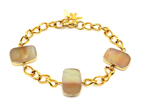 Chain bracelet with Amazonite