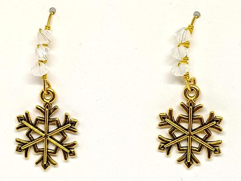 Snowflake earrings V shape