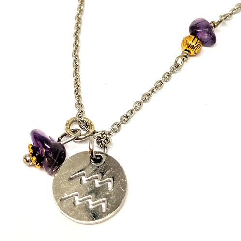 copy of Zodiac Sign Necklace- Aquarius Jan 20- Feb 18