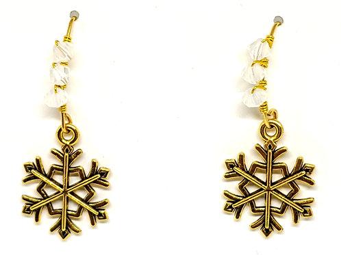 copy of Snowflake earrings V shape