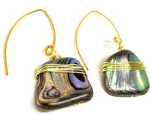 Abalone V Shape Earring