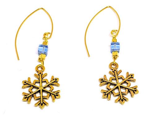 Snowflake V shape earrings