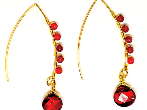 copy of Natural Coral V Shape Earring