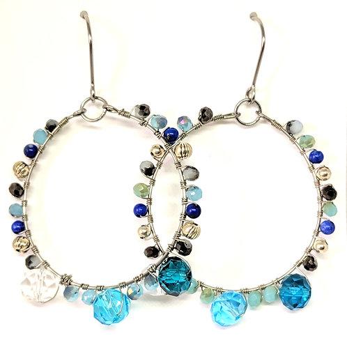 copy of Crystal Hoops Earrings