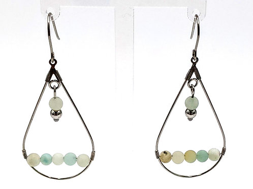 copy of Frosted Amazonite Drop Earrings