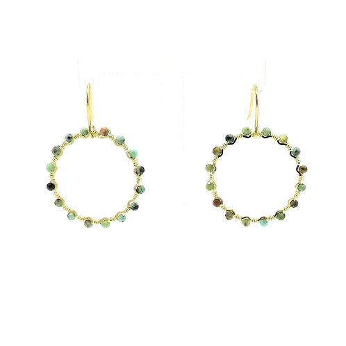 Good Fortune Turquoise Hoops