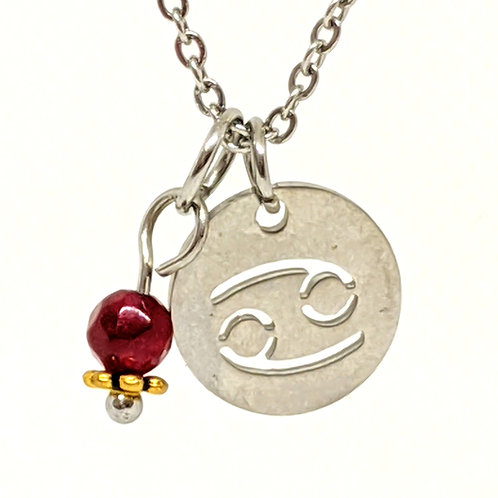 Zodiac Sign Necklace- Cancer Jun 21- Jul 22