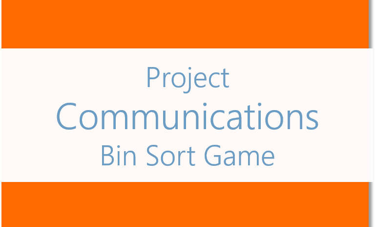 Communications Management ITTO Sorting Game [Download]