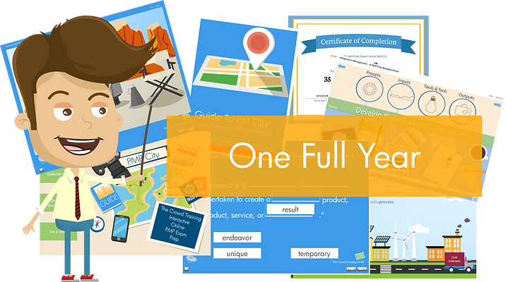 365 Day Access to PM City Interactive Online PMP Exam Prep Course