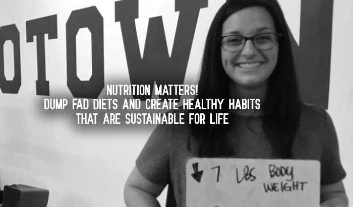 Nutrition Matters! Dump Fad Diets and Create Healthy Habits That Are Sustainable For Life