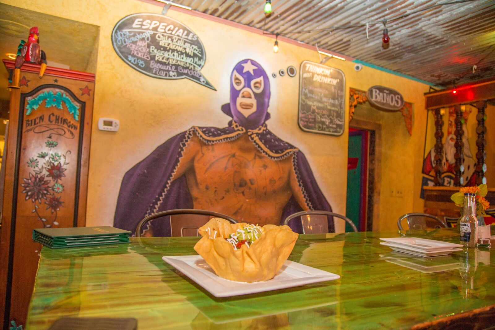 Luchador is hungry!