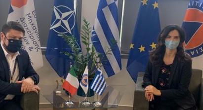 L'Ambasciatrice ad Atene Patrizia Falcinelli incontra il Vice Ministro della Protezione Civile