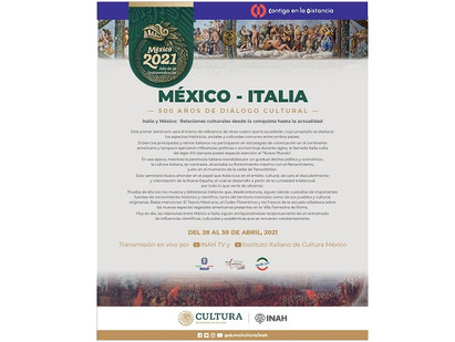 MEXICO-ITALIA: 500 ANNI DI DIALOGO CULTURALE CON AMBASCIATA E IIC
