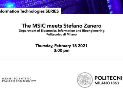 STEFANO ZANERO OSPITE DELLA MIAMI SCIENTIFIC ITALIAN COMMUNITY