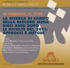 LA RICERCA DI CAMPO NELLA REGIONE MENA DIECI ANNI DOPO LE RIVOLTE DEL 2011