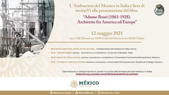 Nell'ambito dei festeggiamenti per i tre centenari: 1821-2021, Bicentenario dell'indipendenza messicana; 1521-2021, V° Centenario della caduta di México-Tenochtitlan; 1321-2021, VII Centenario della fondazione di México-Tenochtitlan, il Governo messicano ha promosso un fitto ed interessante programma culturale che si svolgerà per tutto il 2021-22 e vede al primo posto anche le relazioni culturali con l'Italia