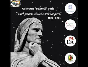 """CHIUSE LE ISCRIZIONI AL CONCORSO """"DANTEDÌ"""" PARIS"""