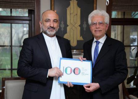 KABUL - L'Ambasciatore italiano a Kabul, Vittorio Sandalli, e il Ministro degli esteri afghano Mohammad Haneef Atmar hanno presentato nei...