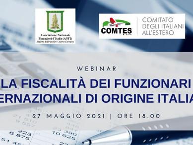 La fiscalità dei funzionari internazionali di origine italiana