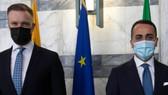 LITUANIA - Incontro di Di Maio con il Ministro degli Esteri lituano, Gabrielius Landsbergis