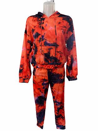 Orange Tie Dye Jogger