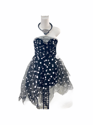 Item #78  polka dot  80s inspires party dress