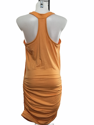 Item #933  orange sexy  built in bra polyester and spandex