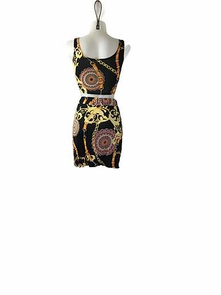 Item #27 Ropes & Chains Skirt set