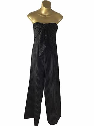 Item #17 Black & white pin stripe sleeveless romper