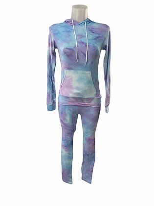 Purple Tie Dye Jogger