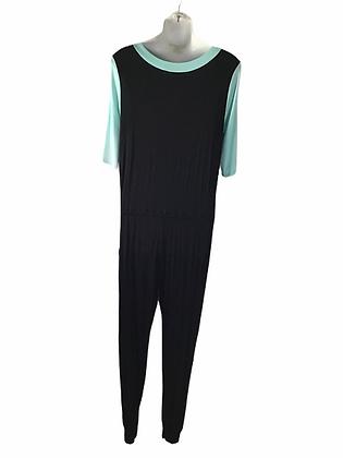 Item #55 Light blue & black mid sleeve one piece