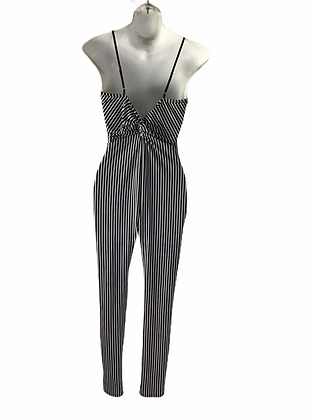 Item #70 Black & white pin stripe one piece