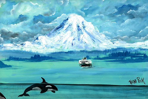 Mt Rainer, Ferry and Orca
