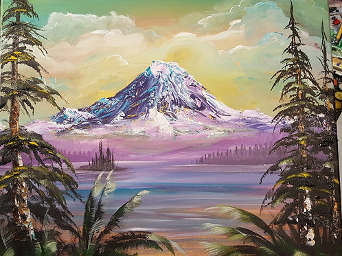 Mt Rainer in the Spring