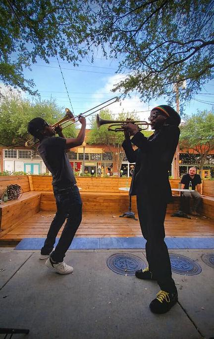 Musicians at Parklet