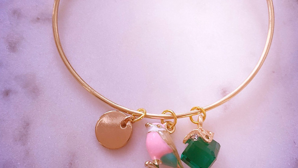 Sweet tweet thin bracelet (can be personalized and one size fits all)