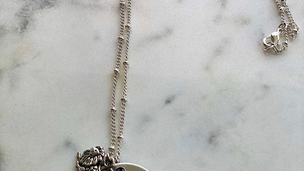Zodiac necklace (Leo season) *Can customize to your zodiac*