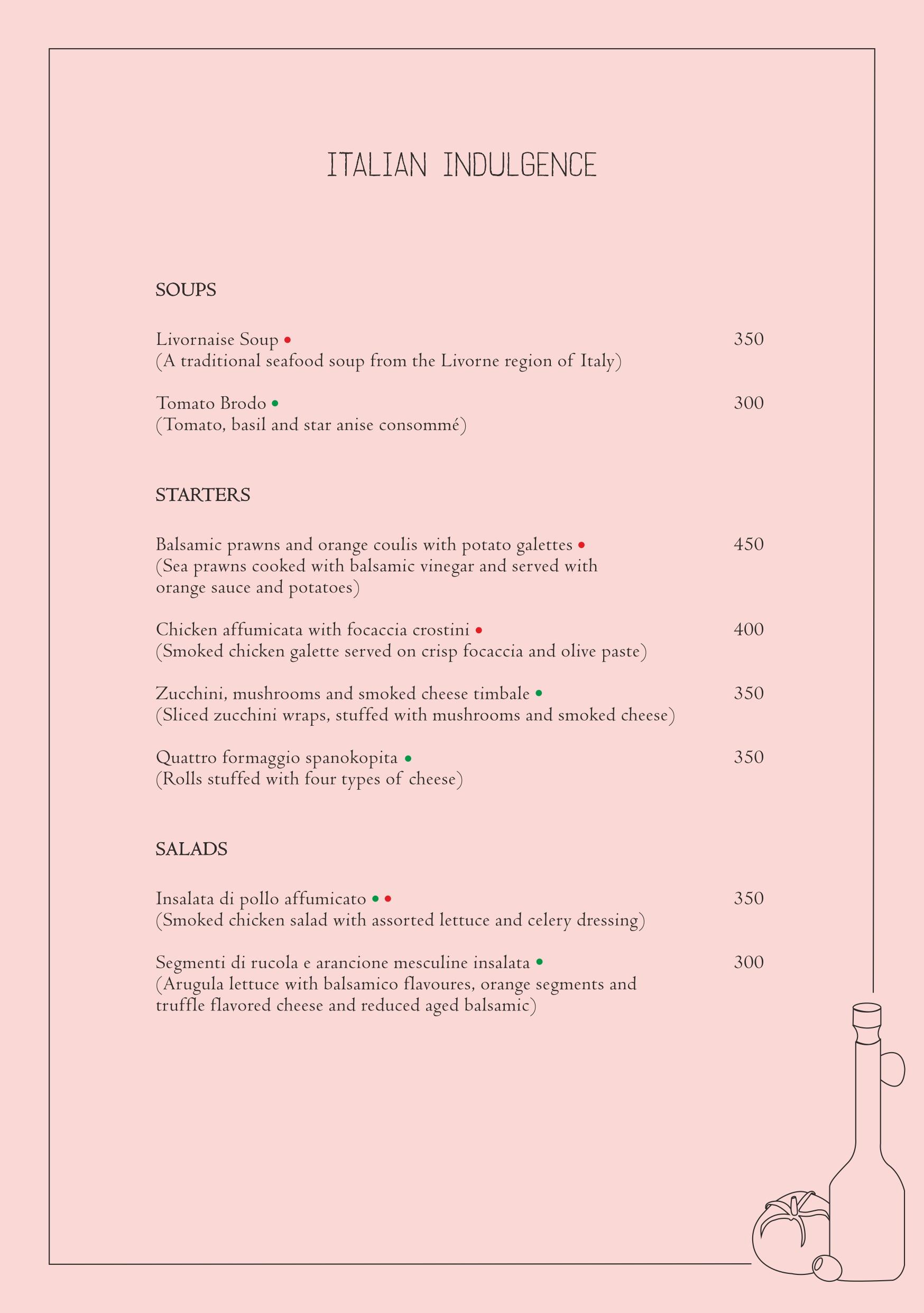 Italian fest menu page 1