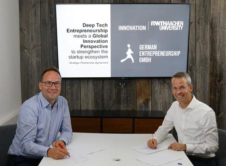 RWTH Innovation und German Entrepreneurship schließen strategische Partnerschaft
