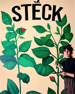 Mural en logo Steck Tilburg