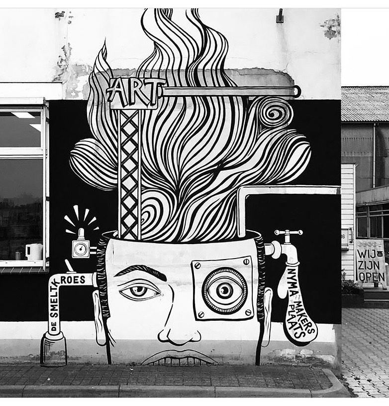 Mural Smeltkroes Nijmegen