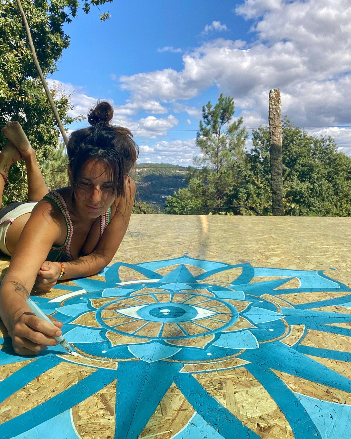 Mandala bij Land op Deveza