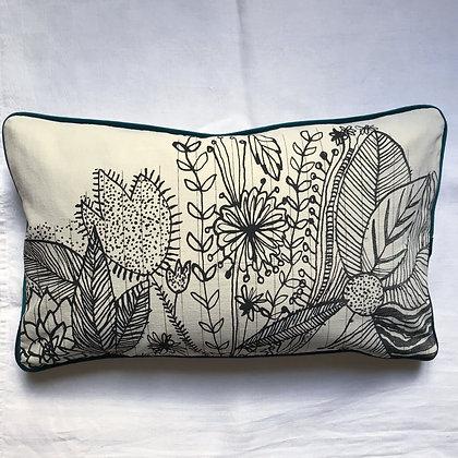 Coussin motif végétal 30 x 50