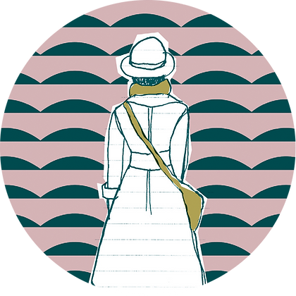 Badge femme de dos