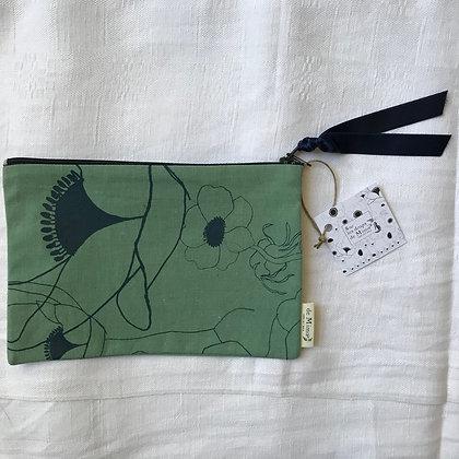 Pochette anémones 20,5 x 14 cm