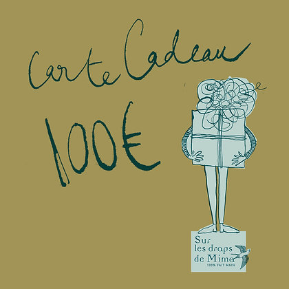Carte cadeau Monsieur 100 euros
